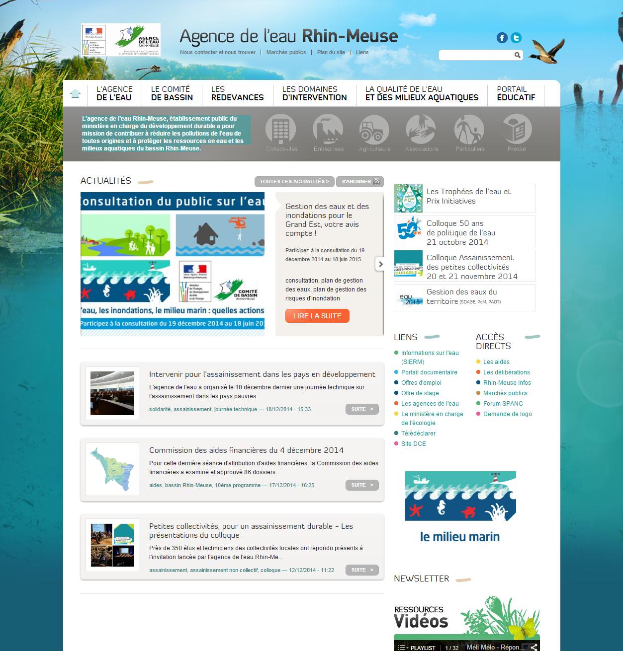 A pour mission de contribuer à réduire les pollutions de l'eau de toutes origines et à protéger les ressources en eau et les milieux aquatiques du bassin Rhin-Meuse.