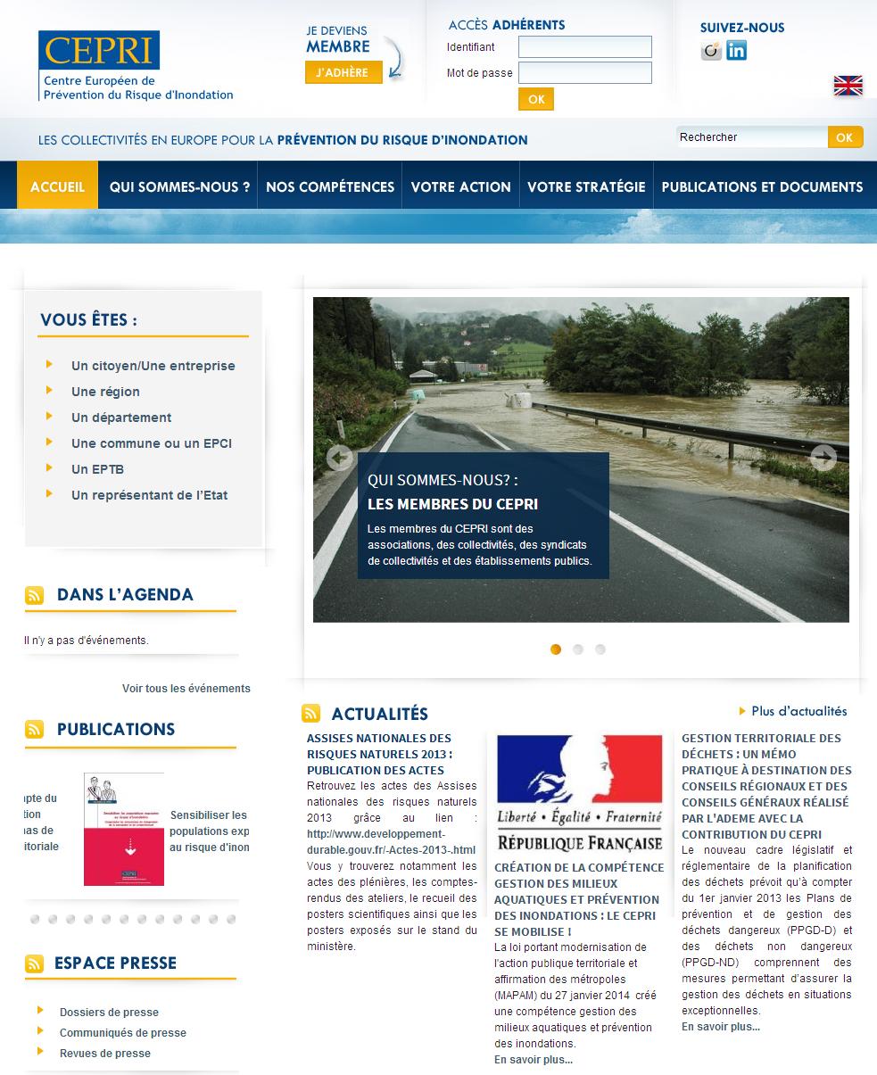 Ce site internet permet aux élus comme à tout citoyen de savoir comment réagir efficacement face à une inondation (risque naturel)