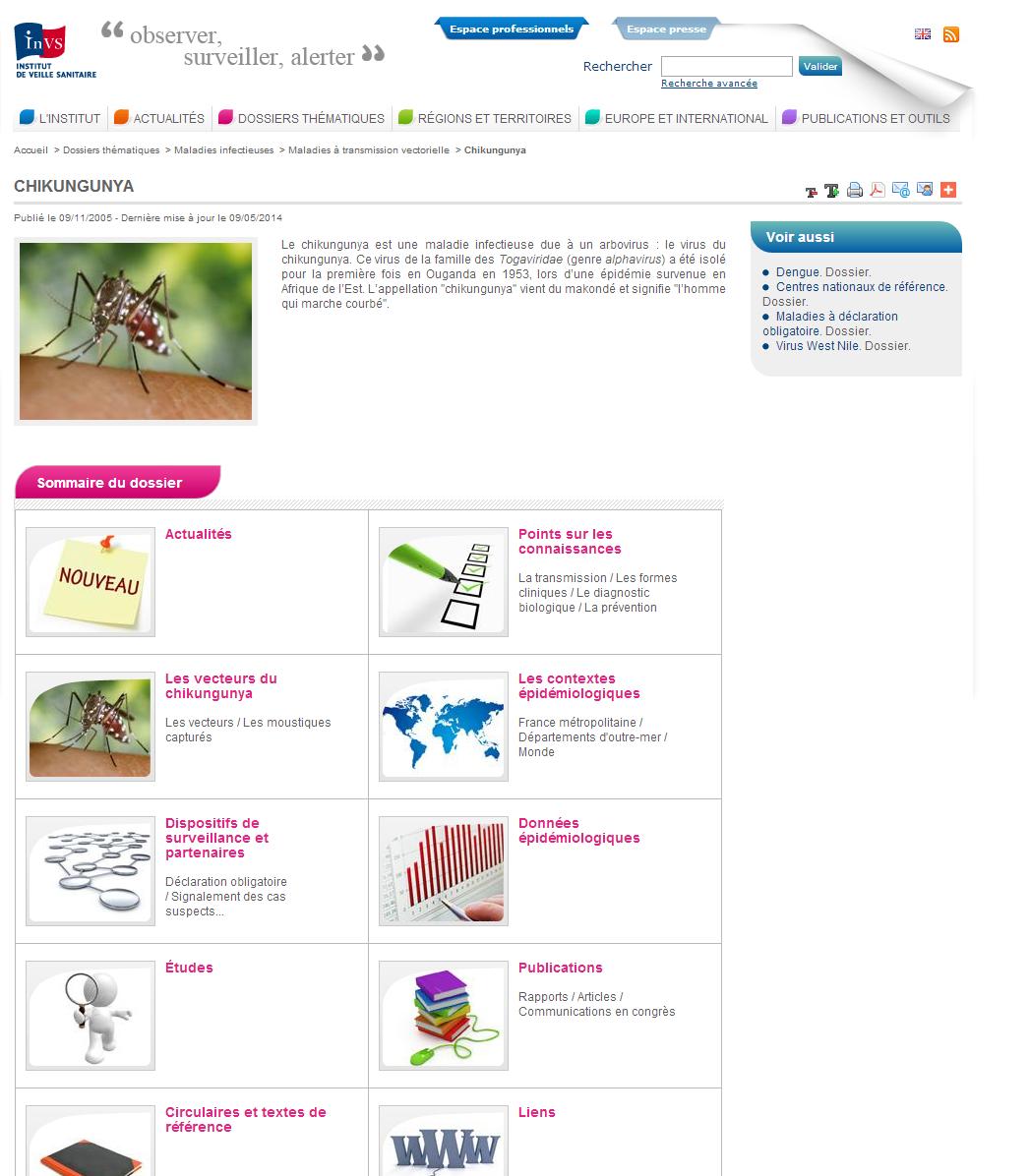 Dossier thématique sur le chikungunya
