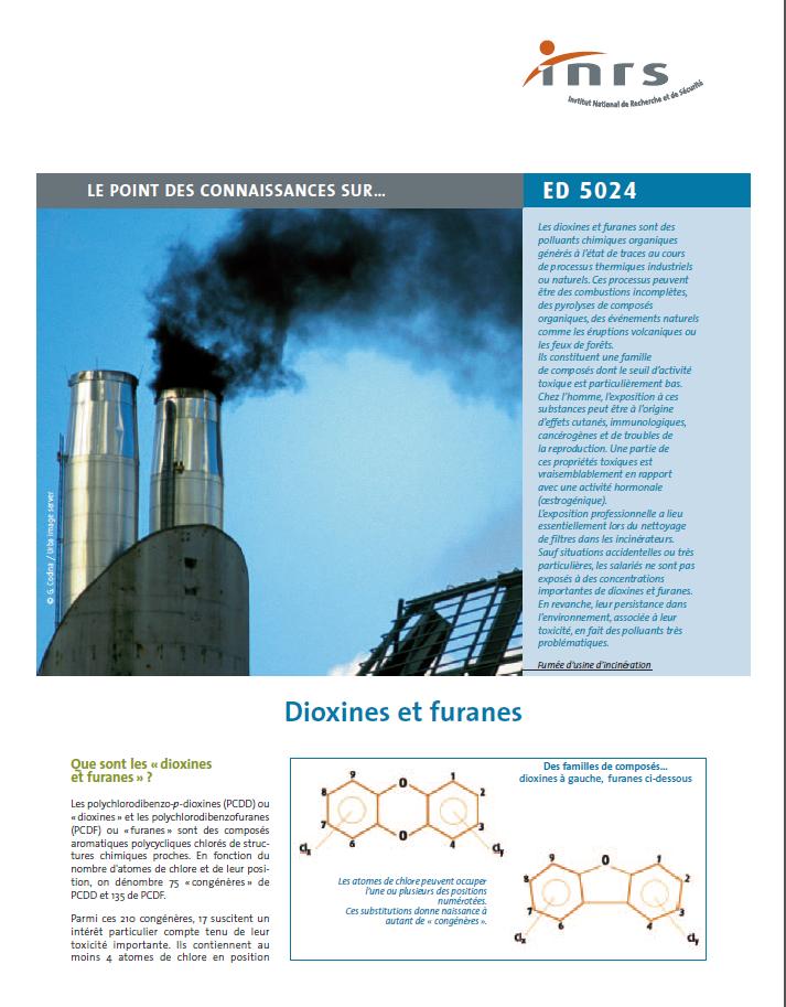 Point sur les connaissances sur les dioxines et les furanes
