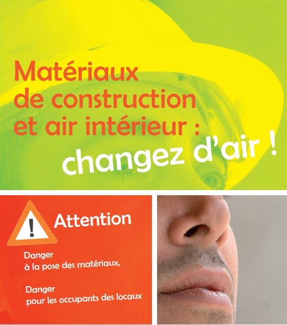 Air intérieur, Matériaux de construction, Pollution atmosphérique, Rénovation de l'habitat, Risque professionnel, Solvant