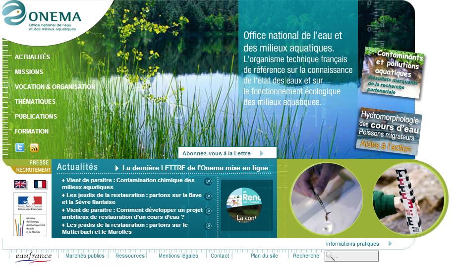 Onema office national de l 39 eau et des milieux aquatiques - Office national de l eau et des milieux aquatiques ...