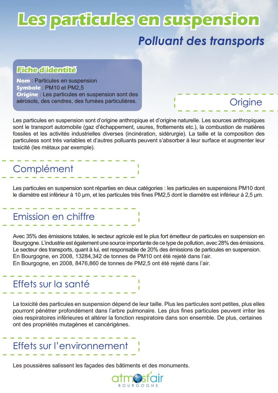 Air extérieur, cancer, maladie respiratoire, pollution atmosphérique, transport