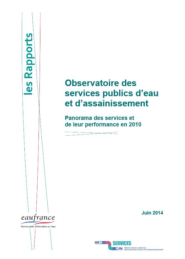 Panorama des services publics d'eau et d'assainissement et de leur performance